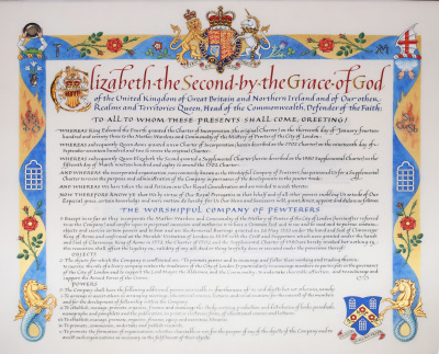 The most recent Pewterers' Charter
